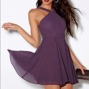 Lulus Dusty Purple Skater Dress